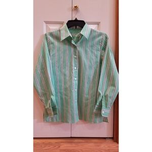 Green Stripe Button Down